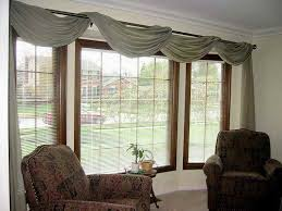 Kitchen Curtain Ideas For Bay Window by Living Room Window Treatment Ideas Homeideasblog Com