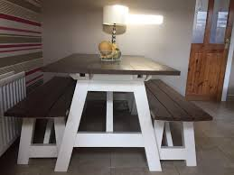 Picnic Bench Style Dining Table In Ahoghill County Antrim Gumtree Throughout Tables