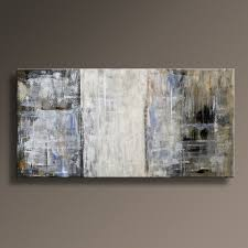 48 ORIGINAL ABSTRACT Painting Canvas Art Rustic Neutral Contemporary Gray Brown White Blue Black Yellow Home Decor