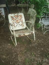 Vintage Metal Outdoor Chair/ Rusty Crusty Metal Rocking ...