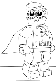 Lego Robin coloring page