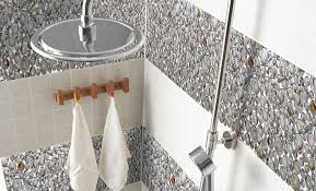 glass mosaic resin conch tiles backsplash chips bathrooms
