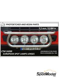 100 Lights For Trucks European Spot Lamps Lenses In 124 Scale Manufactured By Czech Truck Model Ref CTM24200 Also CTM 24200