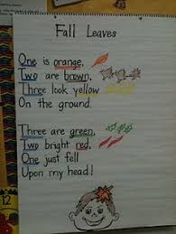 Cute Poem For Fall Except Shouldnt There Be Only 2 Brown Leaves Drawn On