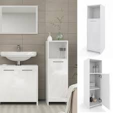 vicco badschrank kiko 95 x 30 cm weiß hochglanz midischrank badezimmerschrank badmöbel schrank regal badregal