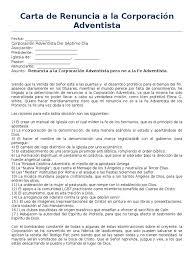 Carta De Renuncia A La Corporación