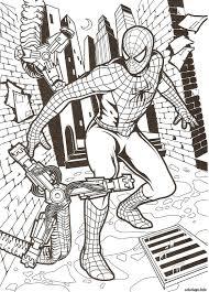 Coloriage Ultimate Spider Man Coloriages Spiderman Gratuits Sur Le