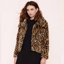 2017 women winter coat jacket fashion trends faux fur leopard long