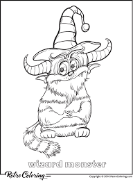 Cute And Funny Monsters Coloring Book