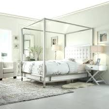 Twin Metal Canopy Bed White With Curtains by White Canopy Bed Curtains How To Install U2013 Ciaoke