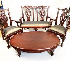 wohnzimmer aus viktorianischem mahagoni zwei stühle