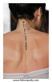 Tattoo Designs For Women Down The Spine 1