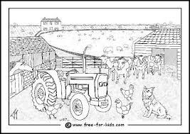Farm Yard Busy Colouring Page