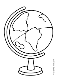School Globe Coloring Page Classes For Kids Printable Free
