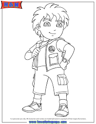 8 Year Old Latino Boy Diego Coloring Page