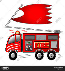 100 Fire Truck Red Cartoon Image Photo Free Trial Bigstock
