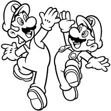 Luigi And Super Mario Bros Coloring Pages