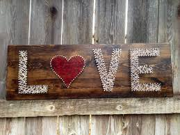 Love String Art But Just The Heart And Paint Letters
