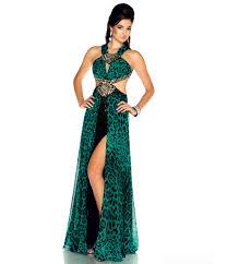 mac duggal 2013 prom dresses emerald leopard print chiffon