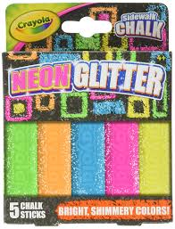 Amazon.com: Crayola Sidewalk Chalk Neon/Glitter: Office Products