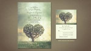 Love Tree Rustic Garden Wedding Invites