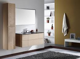 lovely light oak bathroom wall cabinets for floating vanity unit