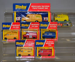 Six Dinky Toys Bedford Vans: 410 Royal Mail; Hertz Truck Rental In ...