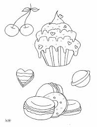 to see printable version of Cupcake and Muffins Coloring page