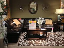 Broyhill Laramie Microfiber Sofa In Distressed Brown by Casual Glam Htl Dalton Chocolate Brown Leather Sectional