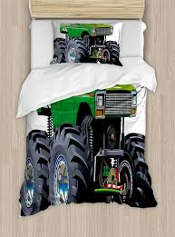 Cars Duvet Cover Set Giant Monster Pickup Truck With Large Tires And ...