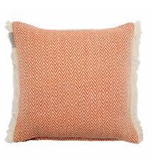 jeté de canapé madura madura enveloppe de coussin montana orange maison boutique