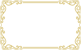 Gold Border Frame Transparent Background