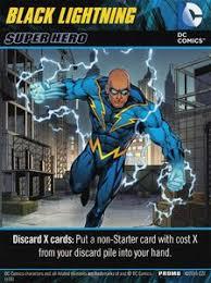 dc comics deck building game black lightning board game