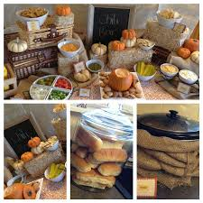 Fall Chili Bar Love The Idea Of Wrapping Crockpot With Burlap