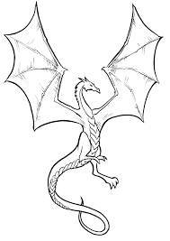 Dragon Coloring Pages Cartoon Photo 48575