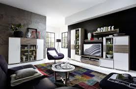 wohnwand wohnzimmer set jam 6 tlg vitrine wandboard tv regal highboard weiß eiche led beleuchtung softclose