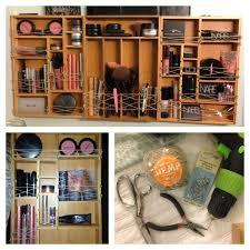 DIY Wall Makeup Organizer Youll Need Enough Bamboo Drawer