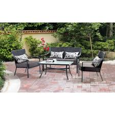 Home Depot Patio Furniture Wicker by Outdoor Set Of 4 Garden Chairs Home Depot Patio Dining Sets