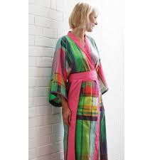 kimono robe de chambre femme peignoir col kimono femme satin de coton panama blanc des vosges