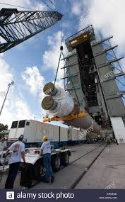 100 Atlas Lift Truck United Launch Alliance Team Members Monitor The Progress As The