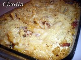 gratin de pâtes au chorizo et curry dans vos assiettes
