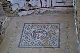 Mosaic On The Floor Of A Roman Terrace House In Ephesus Turkey