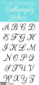 Free Printable Calligraphy Letters Alphabet Uppercase And Lowercase Capital Cursive Worksheets Full Size