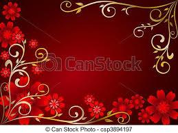 Maroon Flowers Ornament Stock Illustrations
