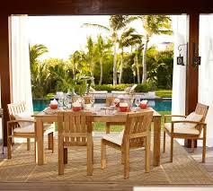 Madera Teak Rectangular Extending Dining Table & Chair Set