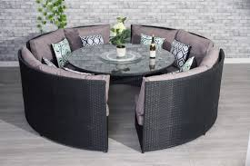Conservatory Rattan 10 Seater Brown Round Dining Table Set ... Ding Room Circular 10 Gorgeous Black Tables For Your Modern Pulaski Fniture The Art Of 7 Piece Round Table And Best Design Decoration Channel Really Inspiring Creative Idea House By John Lewis Enzo 2 Seater Glass Marble Kitchen Sets For 6 Solid Wood Island Mahogany Zef Set Kitchens Sink Iconic 5 Deco Double Xback Antique Grey Stone 45 X 63 Extra Large White Corian Top Chairs 278 Rooms With Plants Minimalists Living