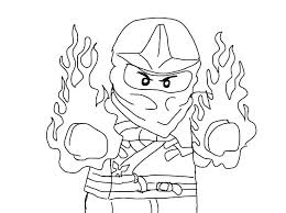 Lego Ninjago Kai Coloring Pages Watch Zx