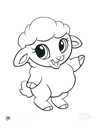 Cute Animal Coloring Pages Printable Cartoon Jungle Animals Baby Pictures On Anime Many