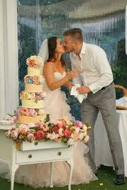 Kara And Steven On Their Big Day So Proud Of That Cake