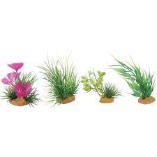 lot de 4 plantes articifielles décoration aquarium aquaprems
